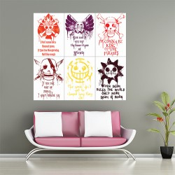 One Piece Gol D. Roger Quote Block Giant Wall Art Poster (P-2058)