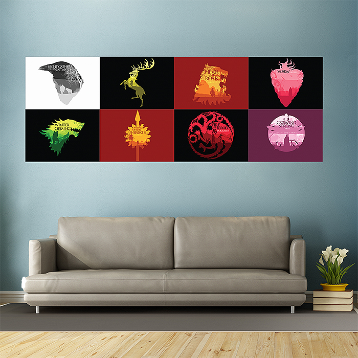 game of thrones wand kunstdruck riesenposter. Black Bedroom Furniture Sets. Home Design Ideas