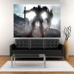 โปสเตอร์ ขนาดใหญ่ Transformers the Last Knight Optimus Prime ทรานส์ฟอร์มเมอร์ส