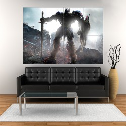Transformers the Last Knight Optimus Prime Block Giant Wall Art Poster (P-2067)
