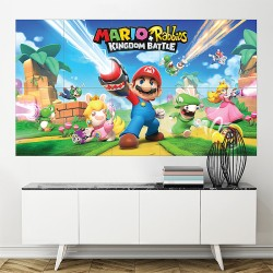 Mario Rabbids Kingdom Battle Block Giant Wall Art Poster (P-2068)