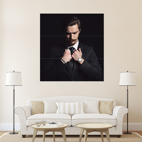 Man's Hairstyles Block Giant Wall Art Poster