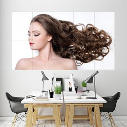 Woman Hairstyle Block Giant Wall Art Poster (P-2079)