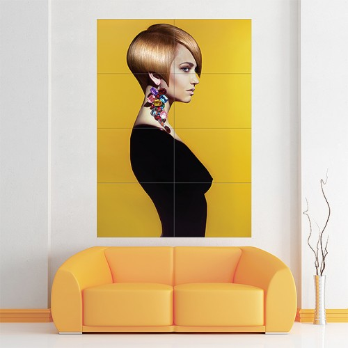 Beautiful Short Hairstyles Block Giant Wall Art Poster
