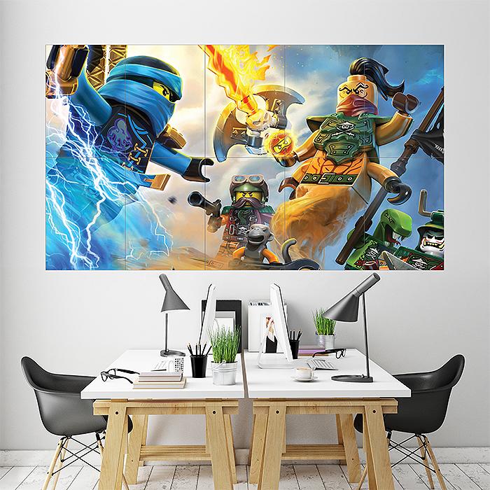 the lego ninjago movie block giant wall art poster