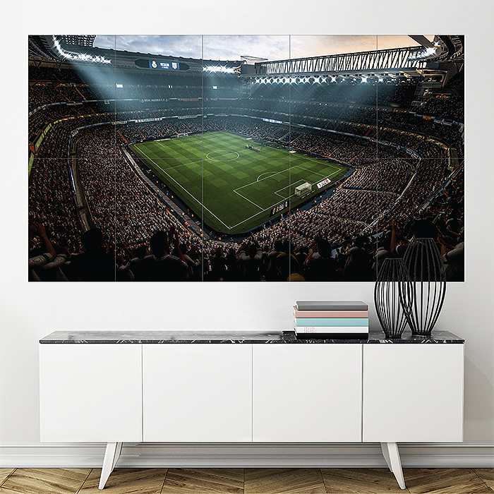 Fifa 18 Soccer Video Game Stadium Block Giant Wall Art Poster