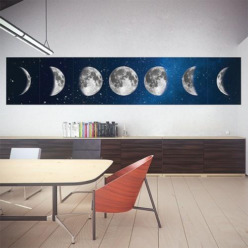 โปสเตอร์ ขนาดใหญ่  Phases of the Moon ข้างขึ้น ข้างแรมของดวงจันทร์