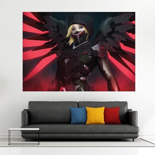 โปสเตอร์ ขนาดใหญ่ Blackwatch Mercy Overwatch
