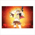 Anime Girl Guns Block Giant Wall Art Poster