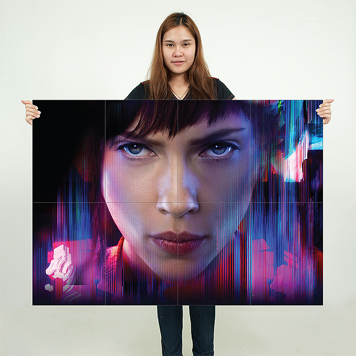 Ghost In The Shell Scarlett Johansson Block Giant Wall Art Poster