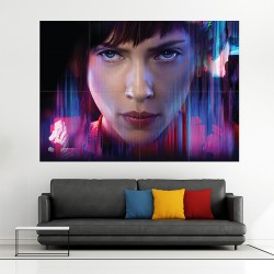Ghost in the Shell Scarlett Johansson Block Giant Wall Art Poster (P-2110)