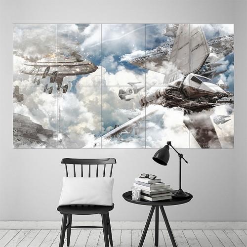 star wars bespin blockade wand kunstdruck riesenposter. Black Bedroom Furniture Sets. Home Design Ideas