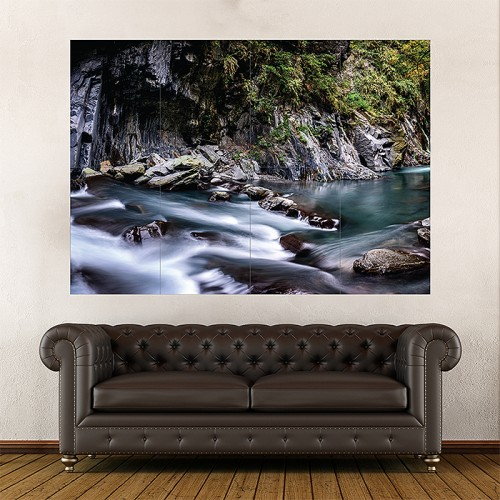 Lisong Hot Spring Taiwan Block Giant Wall Art Poster