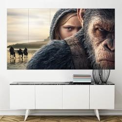 โปสเตอร์ ขนาดใหญ่ War for the Planet of the Apes 2017 (P-2132)