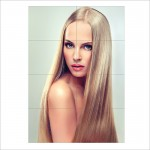 Long Straight Blonde Hair Long Beautiful Hair Block Giant Wall Art Poster