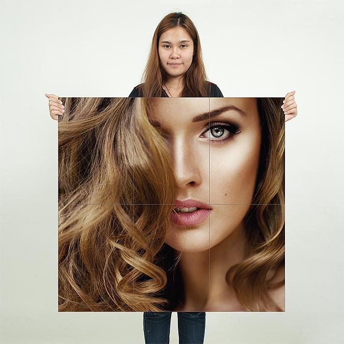 Medium Length Wavy Hairstyles Block Giant Wall Art Poster