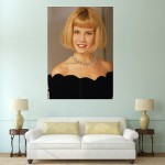 Blonde Chin Bob Hairstyle  Block Giant Wall Art Poster