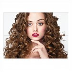 Beautiful Curly Hairstyle Block Giant Wall Art Poster