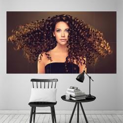 โปสเตอร์ ขนาดใหญ่ Beautiful Girl Curly Hairstyle (P-2142)