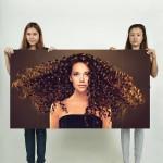 โปสเตอร์ ขนาดใหญ่ Beautiful Girl Curly Hairstyle