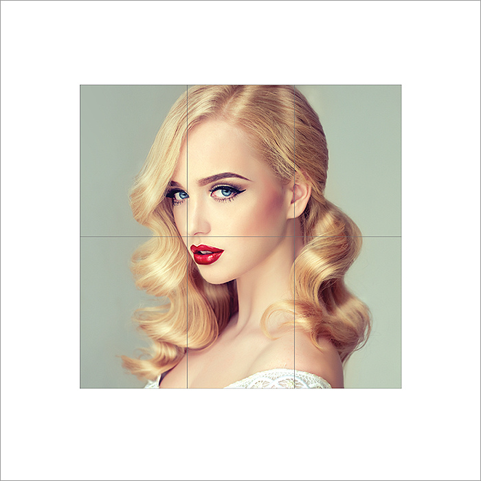 Beautiful Blonde Model With Long Curly Hair Block Giant Wall Art Poster