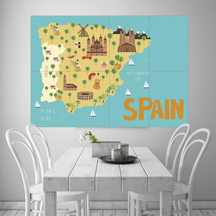 spanien auf der weltkarte