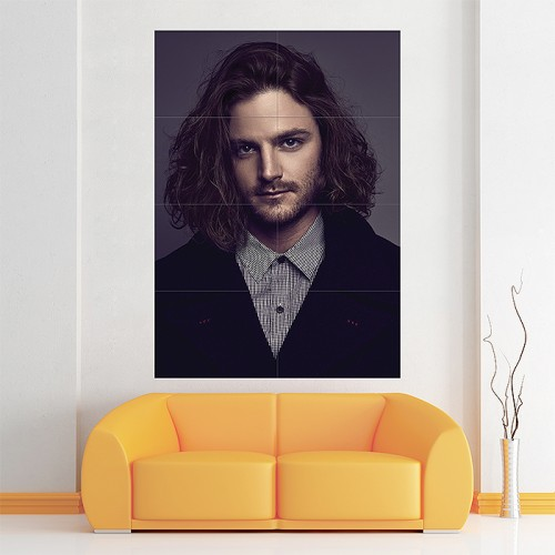 Long Hairstyles Man  Block Giant Wall Art Poster