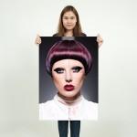 Bangs Fringes Hair  Block Giant Wall Art Poster