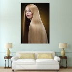 Blonde Long Hair  Block Giant Wall Art Poster