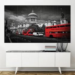 London United Kingdom  Block Giant Wall Art Poster (P-2162)