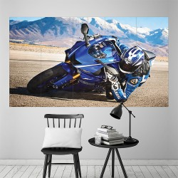 Yamaha YZF R6 motorcycle  Block Giant Wall Art Poster (P-2163)