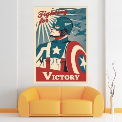 Captain America retro style Block Giant Wall Art Poster (P-2168)