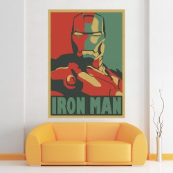 Iron Man Retro Style Block Giant Wall Art Poster (P-2169)