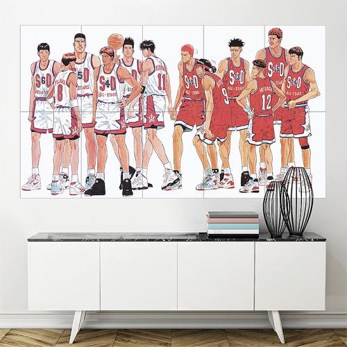 Slam Dunk Basketball Anime  Block Giant Wall Art Poster