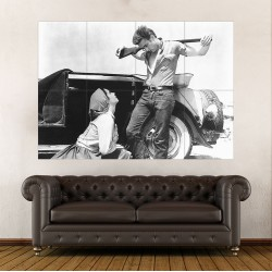 James Dean and Elizabeth Taylor in Giant Block Giant Wall Art Poster (P-2172)