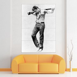 James Dean Giant carry gun Block Giant Wall Art Poster (P-2174)