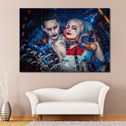 Joker and Harley Quin suicide squad Block Giant Wall Art Poster (P-2182)