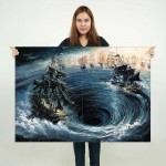 Maelstrom Pirates of the caribbean Block Giant Wall Art Poster