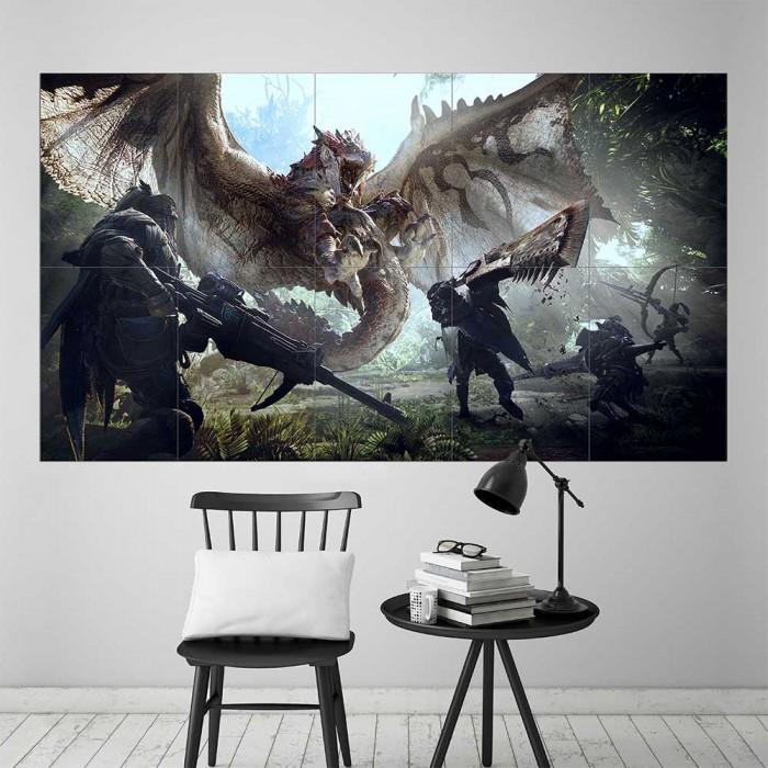 Monster Hunter World Block Giant Wall Art Poster