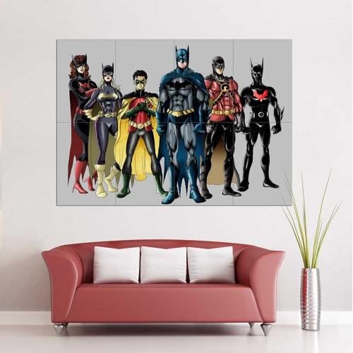 โปสเตอร์ ขนาดใหญ่ Batman Family