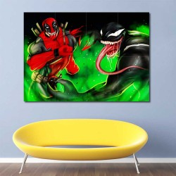 Deadpool vs Venom  Block Giant Wall Art Poster (P-2191)