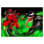 Deadpool vs Venom Block Giant Wall Art Poster