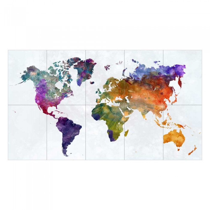 Rainbow watercolor world map block giant wall art poster rainbow watercolor world map block giant wall art poster gumiabroncs Gallery