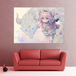 Kanna Kamui Miss Kobayashi's Dragon Maid V.3 Block Giant Wall Art Poster (P-2200)