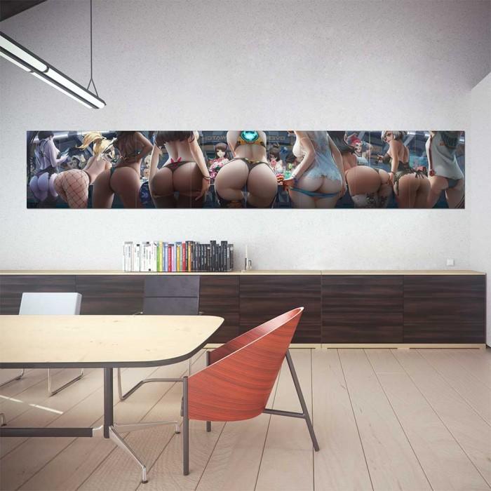 Overwatch Lingerie Girl Block Giant Wall Art Poster