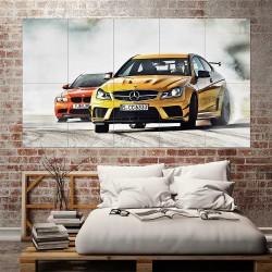 Mercedes Benz C63 Jeremy Clarkson Drifting Block Giant Wall Art Poster (P-2219)