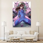 Overwatch D.Va Bodysuit Block Giant Wall Art Poster