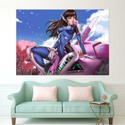 Overwatch D.Va Bodysuit Gun  Block Giant Wall Art Poster (P-2227)