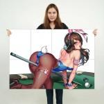 Overwatch D.Va Bunny Girl Block Giant Wall Art Poster