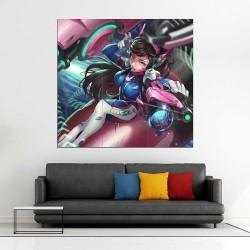 Overwatch D.Va Bodysuit MekaBlock Giant Wall Art Poster (P-2231)